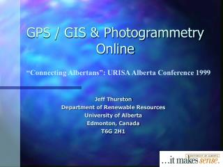 GPS / GIS & Photogrammetry Online