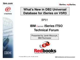 What's New in DB2 Universal Database for iSeries on V5R3