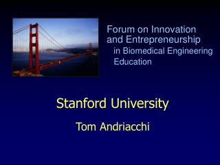 Stanford University Tom Andriacchi