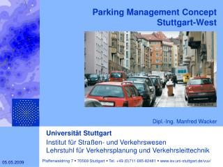 Parking Management Concept  Stuttgart-West