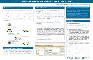 SSO: THE SYNDROMIC SURVEILLANCE ONTOLOGY