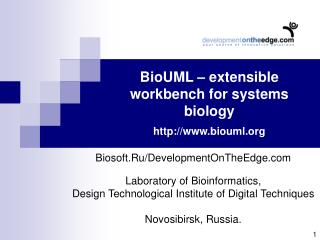 BioUML – extensible workbench for systems biology biouml
