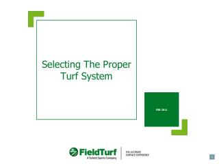 Selecting The Proper Turf System