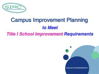 Campus Improvement Planning