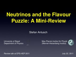 Neutrinos and the Flavour Puzzle: A Mini-Review