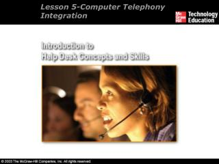 Lesson 5-Computer Telephony Integration