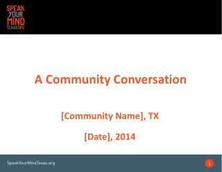 A Community Conversation