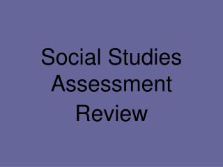 Social Studies Assessment