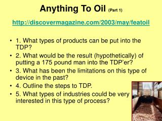 Anything To Oil  (Part 1) discovermagazine/2003/may/featoil