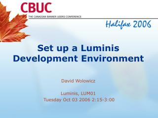 Set up a Luminis Development Environment