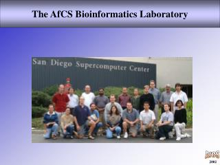The AfCS Bioinformatics Laboratory