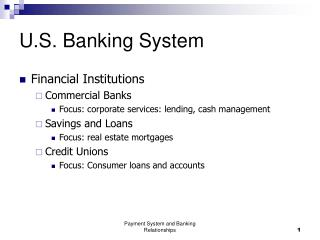 U.S. Banking System