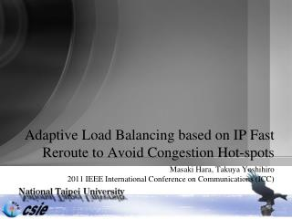 Adaptive Load Balancing based on IP Fast Reroute to Avoid Congestion Hot-spots