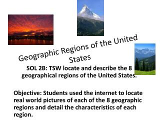 Geographic Regions of the United States
