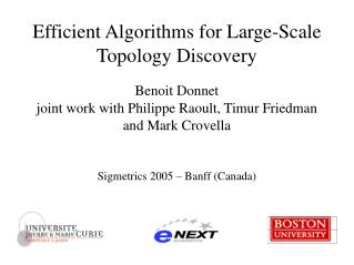 Efficient Algorithms for Large-Scale Topology Discovery