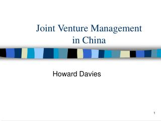 Joint Venture Management in China