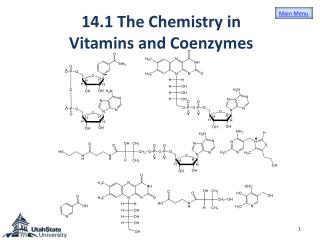 14 .1  The Chemistry in Vitamins and Coenzymes