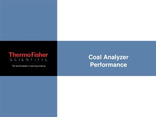 Coal Analyzer Performance