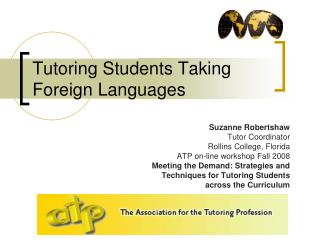 Tutoring Students Taking Foreign Languages
