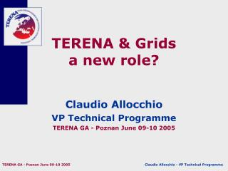 TERENA & Grids a new role?