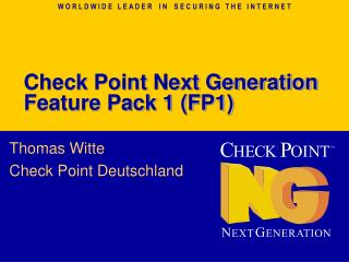 Check Point Next Generation Feature Pack 1 (FP1)