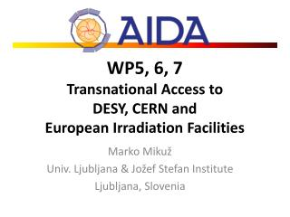 WP5, 6, 7 Transnational Access  to DESY, CERN and  European Irradiation Facilities