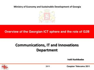 Overview of the Georgian ICT sphere and the role of G2B