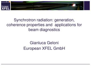 Synchrotron  radiation: generation, coherence properties and  applications for beam  diagnostics