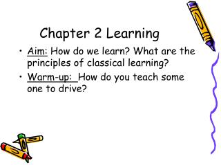 Chapter 2 Learning