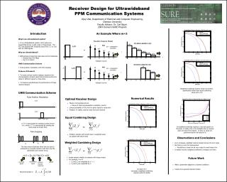 Receiver Design for Ultrawideband  PPM Communication Systems