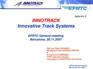 EFRTC General meeting Barcelona, 30.11.2007