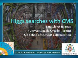 ITEP Winter  School  –  February  2012   Moscow