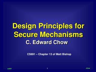 Design Principles for Secure Mechanisms