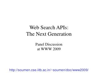 Web Search APIs:  The Next Generation