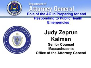 Judy Zeprun Kalman Senior Counsel Massachusetts  Office of the Attorney General