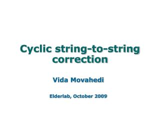 Cyclic string-to-string correction