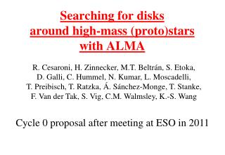 Searching for disks around high-mass (proto)stars with ALMA