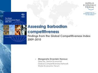 Assessing Barbadian competitiveness Findings from the Global Competitiveness Index 2009-2010