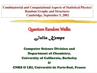 Quantum Random Walks