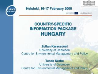 COUNTRY-SPECIFIC  INFORMATION PACKAGE  HUNGARY