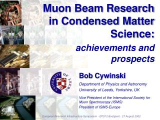 Muon Beam Research in Condensed Matter Science:
