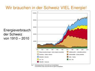 Wir brauchen in der Schweiz VIEL Energie!