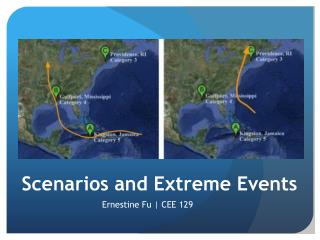 Scenarios and Extreme Events