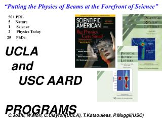 UCLA   and     USC AARD                                       	 PROGRAMS