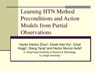 Learning HTN Method Preconditions and Action Models from Partial Observations