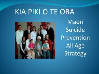 Maori  Suicide Prevention All Age Strategy