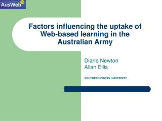 Factors influencing the uptake of  Web-based learning in the  Australian Army