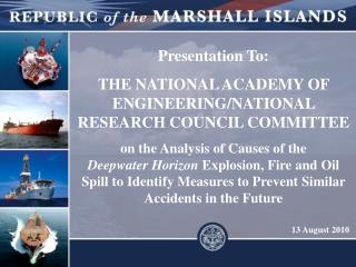 Presentation To: THE NATIONAL ACADEMY OF ENGINEERING/NATIONAL RESEARCH COUNCIL COMMITTEE