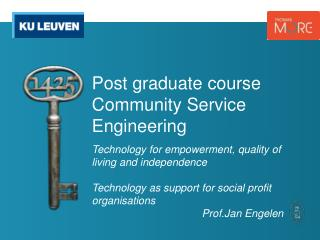 Post graduate course Community  Service Engineering
