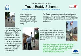 An introduction to the Travel Buddy Scheme Supporting People with Learning Disabilities in Wandsworth